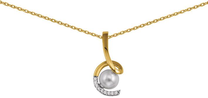 Collier plaqué or perle et oxyde 701313 73¤ - Voir en grand