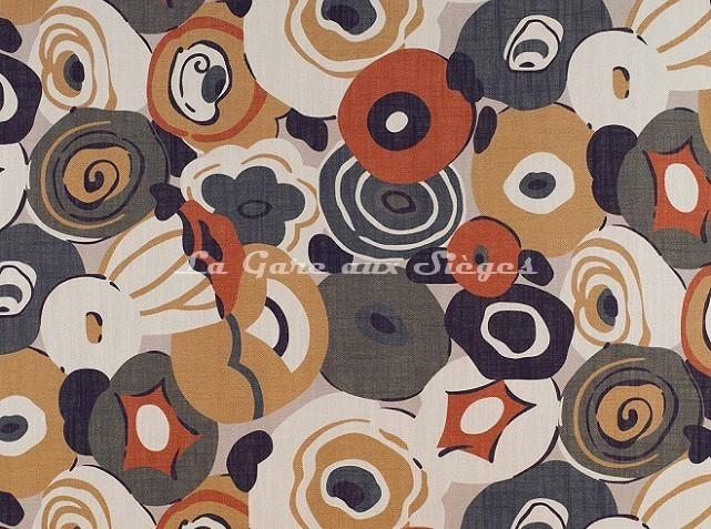 Tissu Gaston y Daniela - Flamingo - réf: GDT-5134-002 Verde/Lacre - Voir en grand