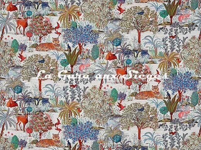 Tissu Pierre Frey - Le jardin du palais - réf: F3469.001 - Voir en grand