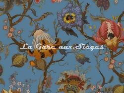 Tissu House of Hackney - Velours Artemis - Coloris: Azure - Voir en grand
