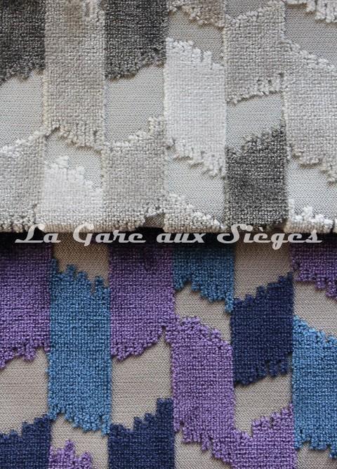 Tissu Jéro - Italique - réf: 9116 - Coloris: 07 Craie & 08 Chine - Voir en grand