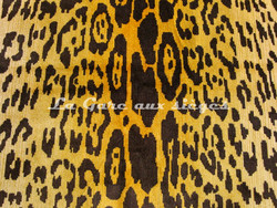 Tissu Nobilis - Velours Léopard - réf: 10497 - Coloris: 35 Curry - Voir en grand