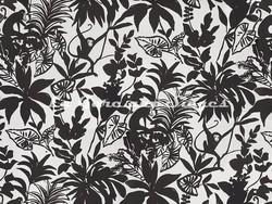 Tissu imprimé Pierre Frey - Happy Monkey - réf: F3218-001 Black - Voir en grand