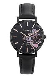 Bracelet noir cadran noir 699008