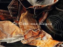 Tissu Jean Paul Gaultier - On the Road - réf: 3449-03 Terre - Voir en grand