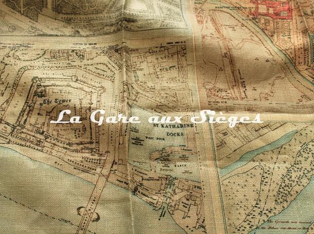 Tissu GP & J.Baker - Palace Maps Linen - réf: BP10657.1 Original - Voir en grand