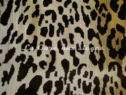 Tissu Nobilis - Velours Léopard - réf: 10497 - Coloris: 02 Crème - Voir en grand