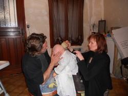 coupe bébé garçon chez l'oxy coup' coiffeuse à domicile - Voir en grand