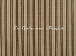 Tissu Le Crin - Christiane 100 - réf: C0100 - Coloris: 088 Brique/Beige - Voir en grand