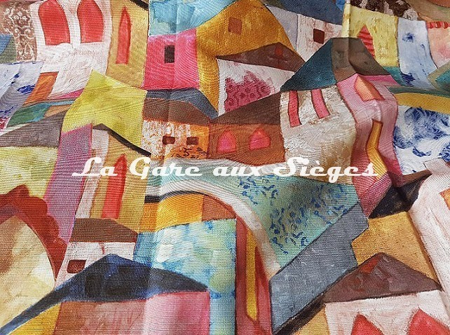 Tissu Rubelli - Burano - réf: 30411.001 Multicolore - Voir en grand