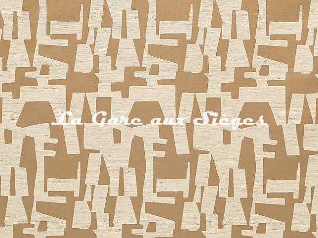 Tissu Dedar - Pazl - réf: T18004.004 Havane - Voir en grand
