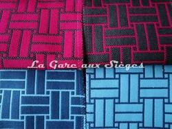 Tissu Lelièvre - Reverso - réf: 717 - Coloris: 07 Fushia & 08 Aqua - Voir en grand