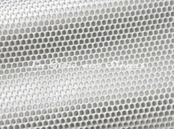 Tissu Boussac - Echo - réf: O7902-001 Blanc/Argent - Voir en grand