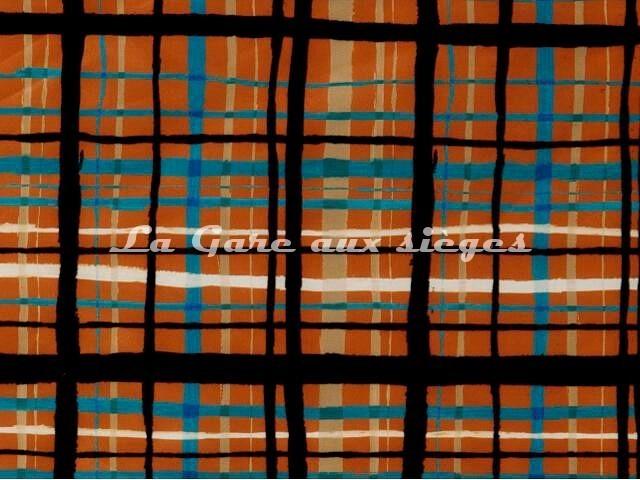 Tissu Jean Paul Gaultier - Fusain - réf: 3457-03 Terre - Voir en grand