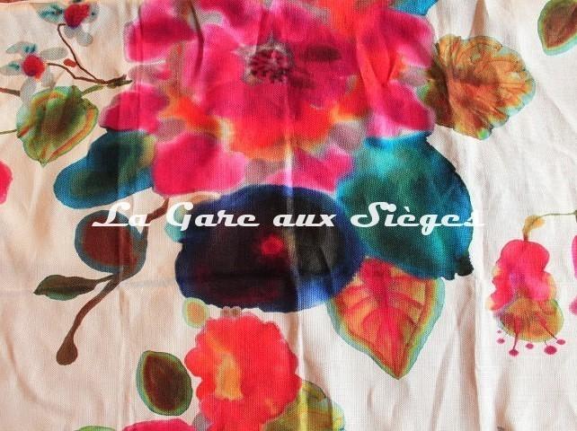 Tissu Rubelli - Cap d'Antibes - réf: 07576.002 Multicolore ( détail ) - Voir en grand