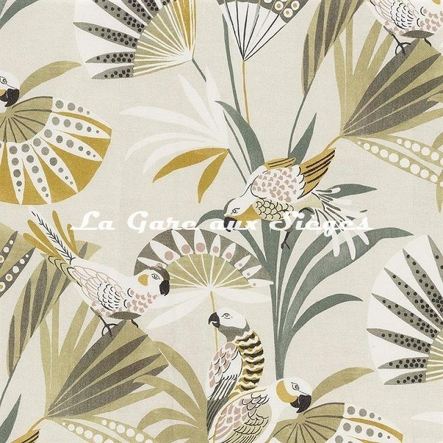 Tissu Camengo - Quetzal - réf: 4206.0218 Rose Kaki - Voir en grand