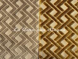 Tissu Casamance - Velours Magnum - réf: 3656.0257 Beige & 3656.0512 Jaune moutarde - Voir en grand