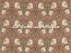 Tissu William Morris - Pimpernel - réf: 224493 Red/Thyme - Voir en grand
