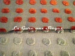 Tissu Harlequin - Polka - réf: 130693 Tangerine/Neutral & 130689 Pebble/Neutral - Voir en grand