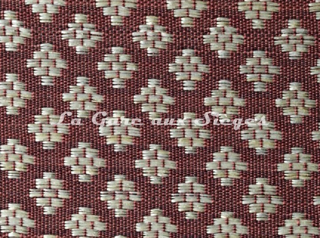 Tissu Le Crin - Nircel 229 - réf: C0229 - Coloris: 53 Rouge Crème - Voir en grand