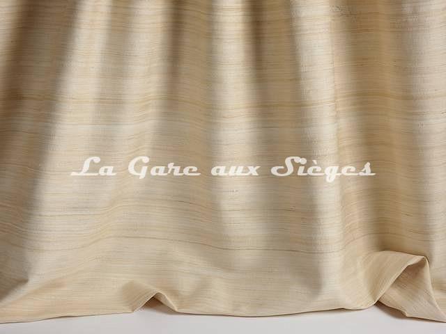 Tissu Pierre Frey - Soie Albertine - réf: F3278-002 Sable - Voir en grand