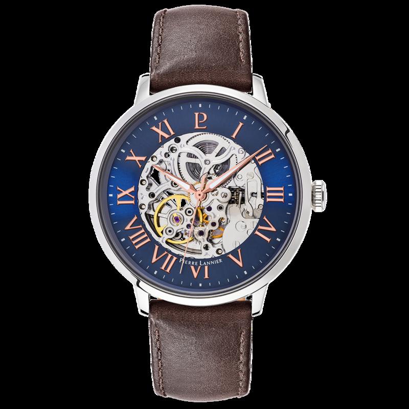 Montre Homme Automatique Squelette bracelet cuir - Automatique - Bijouterie Horlogerie Lechine - Voir en grand