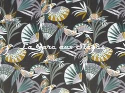 Tissu Camengo - Quetzal velvet - réf: 4208.0356 Parme - Voir en grand