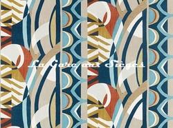 Tissu Harlequin - Atelier - réf: 130795 Ink/Sky/Stone - Voir en grand