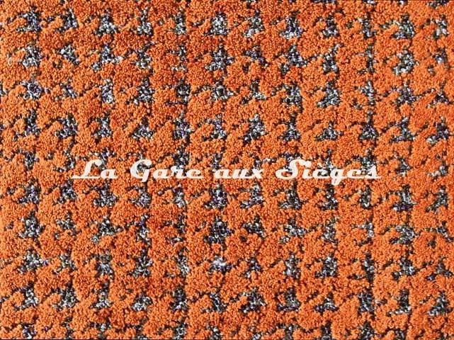 Tissu Camengo - Emilie - réf: 4168.0339 Orange - Voir en grand