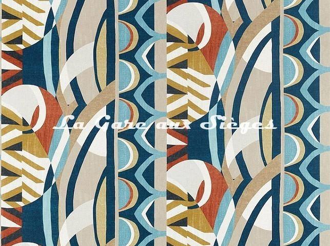 Tissu Harlequin - Atelier - réf: 120795 Ink/Sky/Stone - Voir en grand