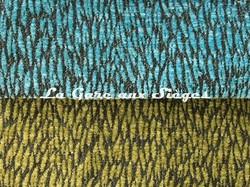 Tissu Pierre Frey - Colette - réf: F3115 - Coloris: 011 Lagon & 012 Lichen - Voir en grand