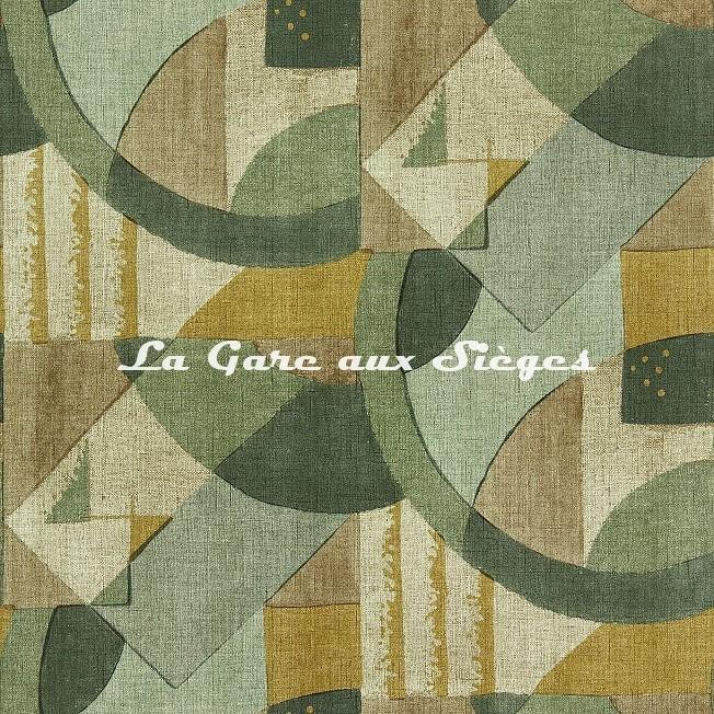 Papier peint Zoffany - Abstract 1928 - réf: 312887 Antique Olivine - Voir en grand