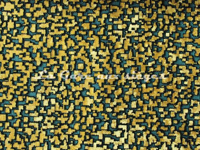 Tissu Nobilis - Velours Pixels - réf: 10563-67 - Coloris: Turquoise mosaïque - Voir en grand