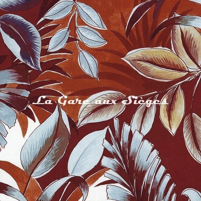 Tissu Casamance - Dypsis - réf: 4106.0413 Rouge carmin - Voir en grand