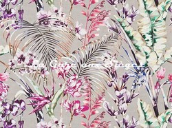 Tissu Harlequin - Paradise - réf: 120352 Loganberry/Raspberry/Emerald - Voir en grand