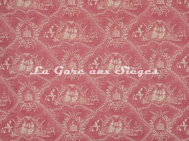 Tissu Pierre Frey - Crespieres - réf: F2056-002 Rose ancien - Voir en grand