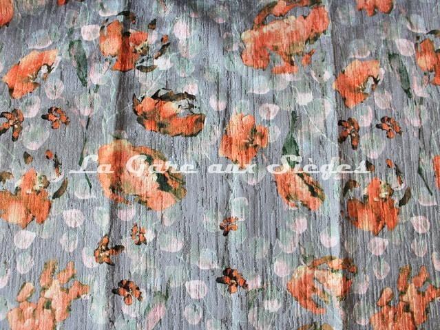 Tissu Deschemaker - Velours Pavot - réf: 3110 Argent - Voir en grand