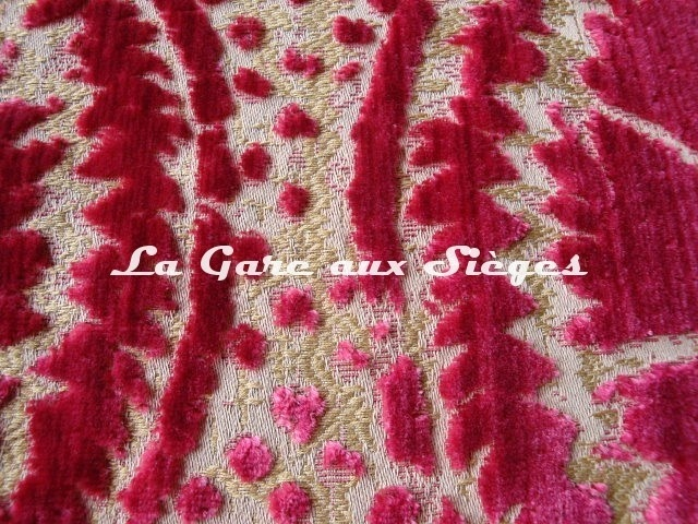 Tissu Fadini Borghi - Sforza - réf: I5004.002 Rouge ( détail ) - Voir en grand