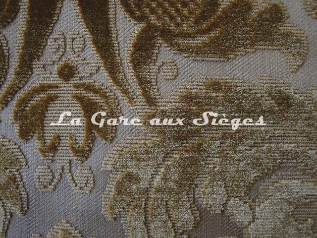 Tissu Lelièvre - Velours Chaillot - réf: 0538 - Coloris: 02 Or - Voir en grand