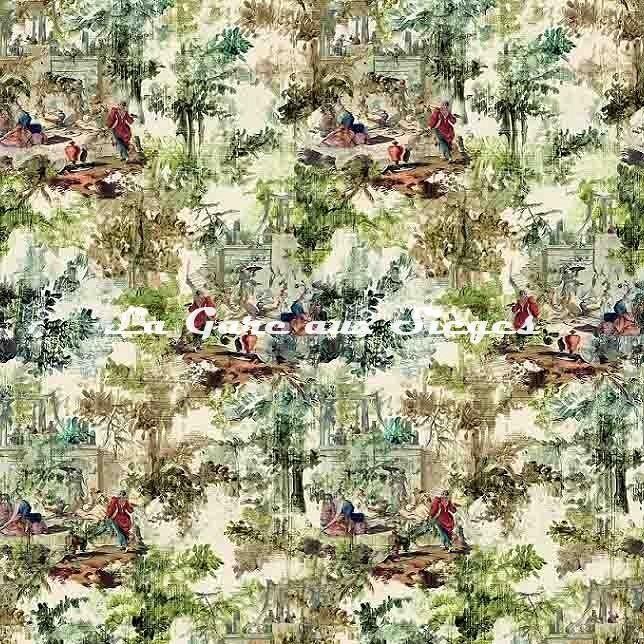Tissu Rubelli - Déjeuner sur l'herbe - réf: 30413.002 Verde ( laize ) - Voir en grand