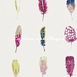 Papier peint Harlequin - Limosa - réf: 111076 Loganberry/Raspberry/Olive - Voir en grand