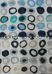 Tissu Casal - Oméga - réf: 16181 - Coloris: 1015 Ciel Marine & 7216 Ivoire Bleu pétrole - Voir en grand