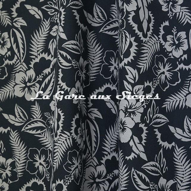 Tissu Jean Paul Gaultier - Nooréa - réf: 3495.05 Pétrole - Voir en grand