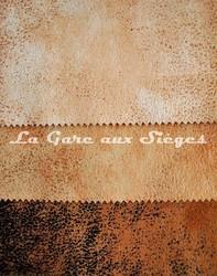 Tissu Casal - Cuir vieilli - Réf: 5080 - Coloris: 72 Beige - 73 Chamois - 52 Caramel - Voir en grand