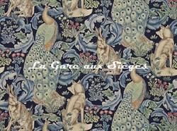 Tissu William Morris - Forest - réf: 222534 Indigo - Voir en grand