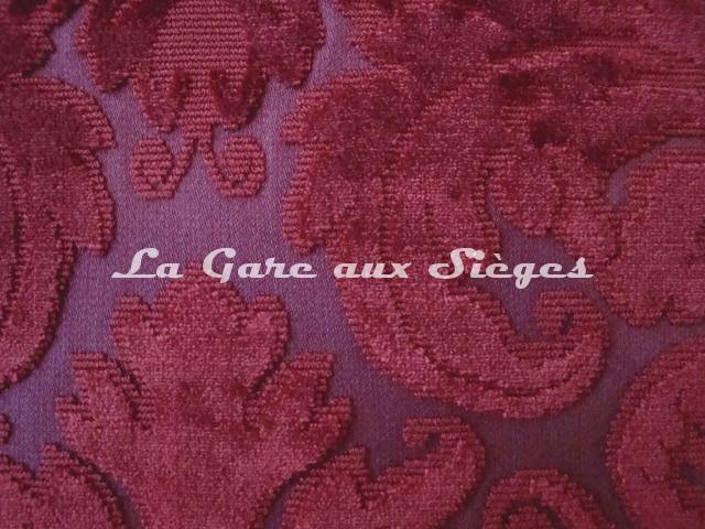 Tissu Lelièvre - Velours Chaillot - réf: 0538 - Coloris: 01 Rubis - Voir en grand