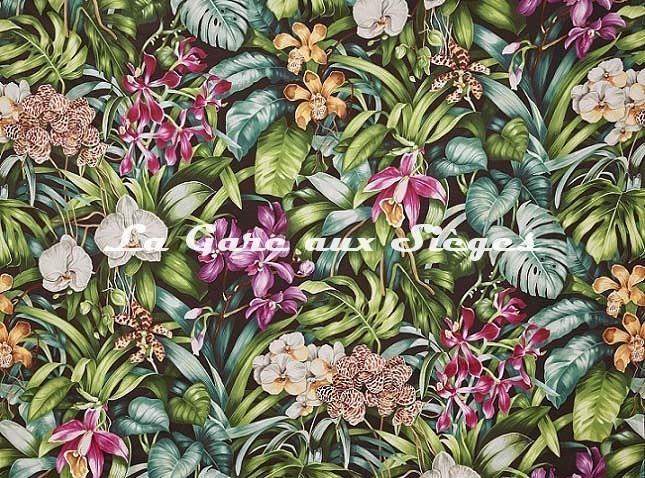 Tissu Pierre Frey - Jardin botanique - réf: F3389.002 Nuit - Voir en grand