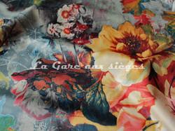 Tissu Deschemaker - Velours Mayence - 3103 Amande - Voir en grand