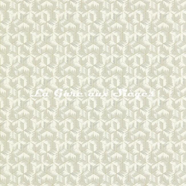 Papier peint Zoffany - Tumbling Blocks - réf: 312891 Empire Grey - Voir en grand