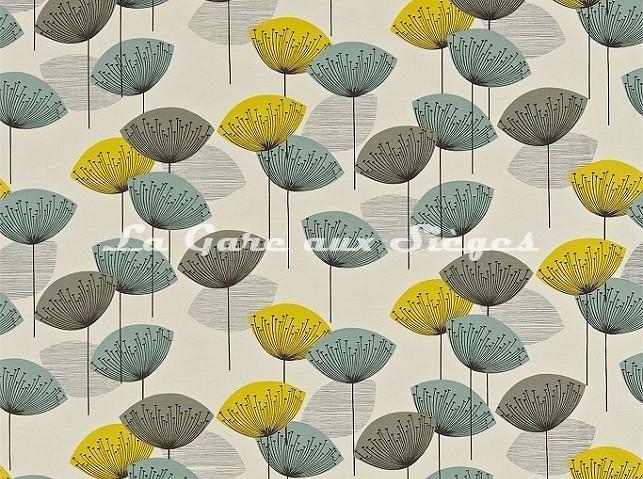 Tissu Sanderson - Dandelion Clocks - réf: DOPNDA204 Chaffinch - Voir en grand